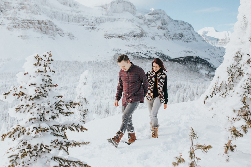 Engagement Photo on the Rockies