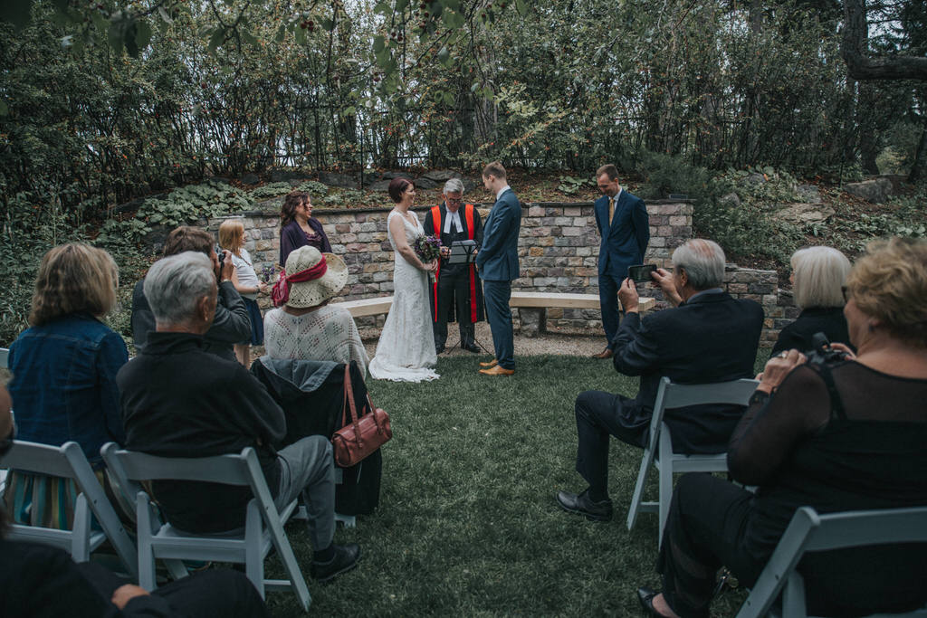 Calgary Garden Wedding Ceremony