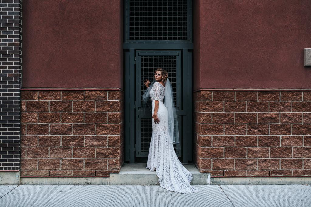 Calgary Wedding Editorial Portrait of Bride