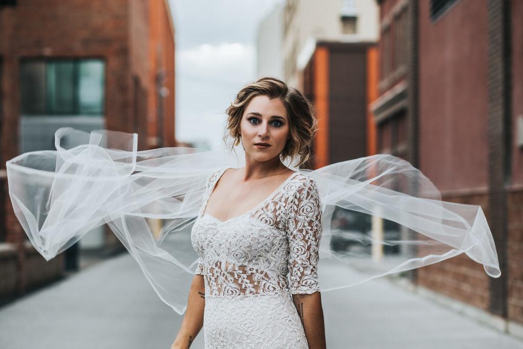 Calgary Urban Bridal Portrait | Sue Moodie Photography | NRT Fashions