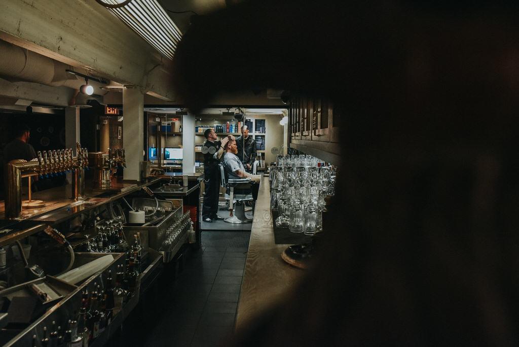 Calgary Wedding Photography Venue Johnny's barber + shop