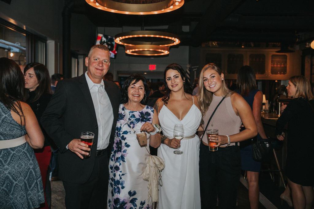 Calgary Wedding Photographer Bride with wedding guests
