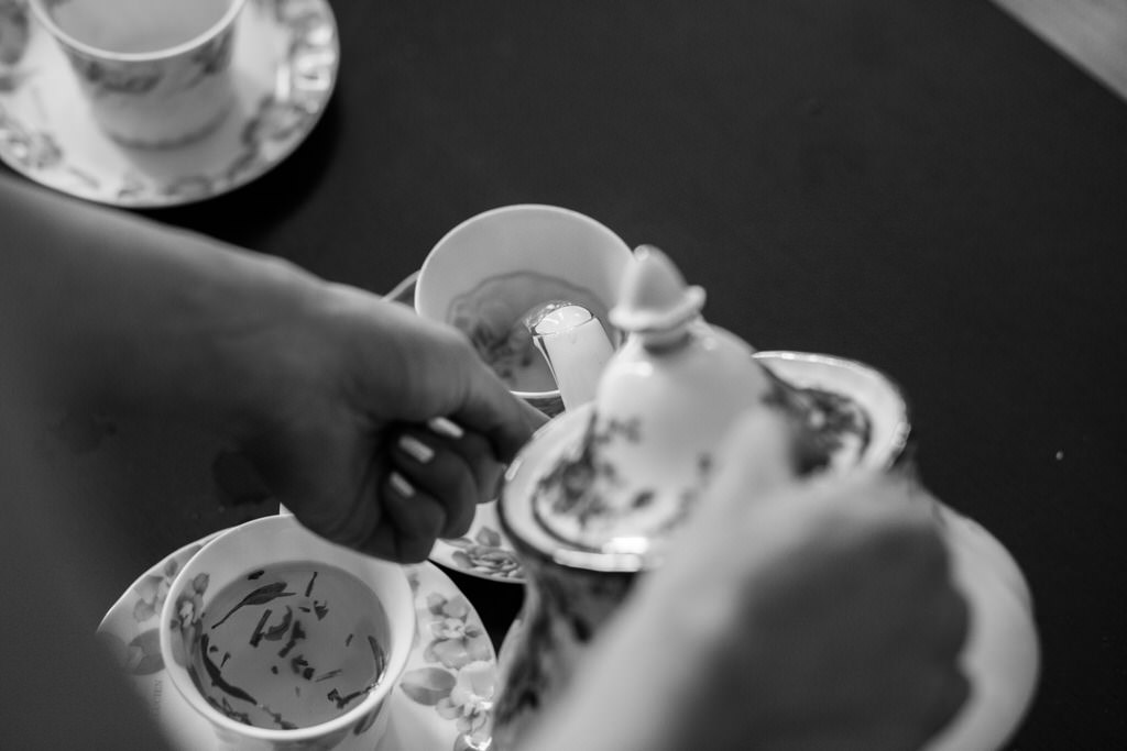 Chinese Wedding Ceremony Tea being poured