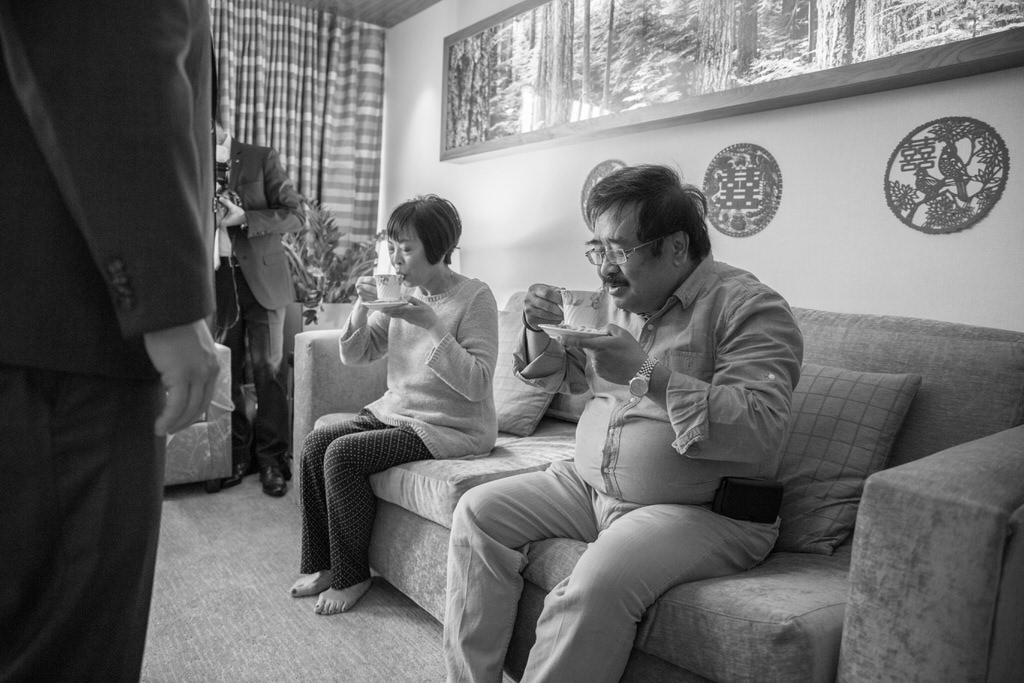 Chinese Wedding Tea Ceremony parents drinking tea