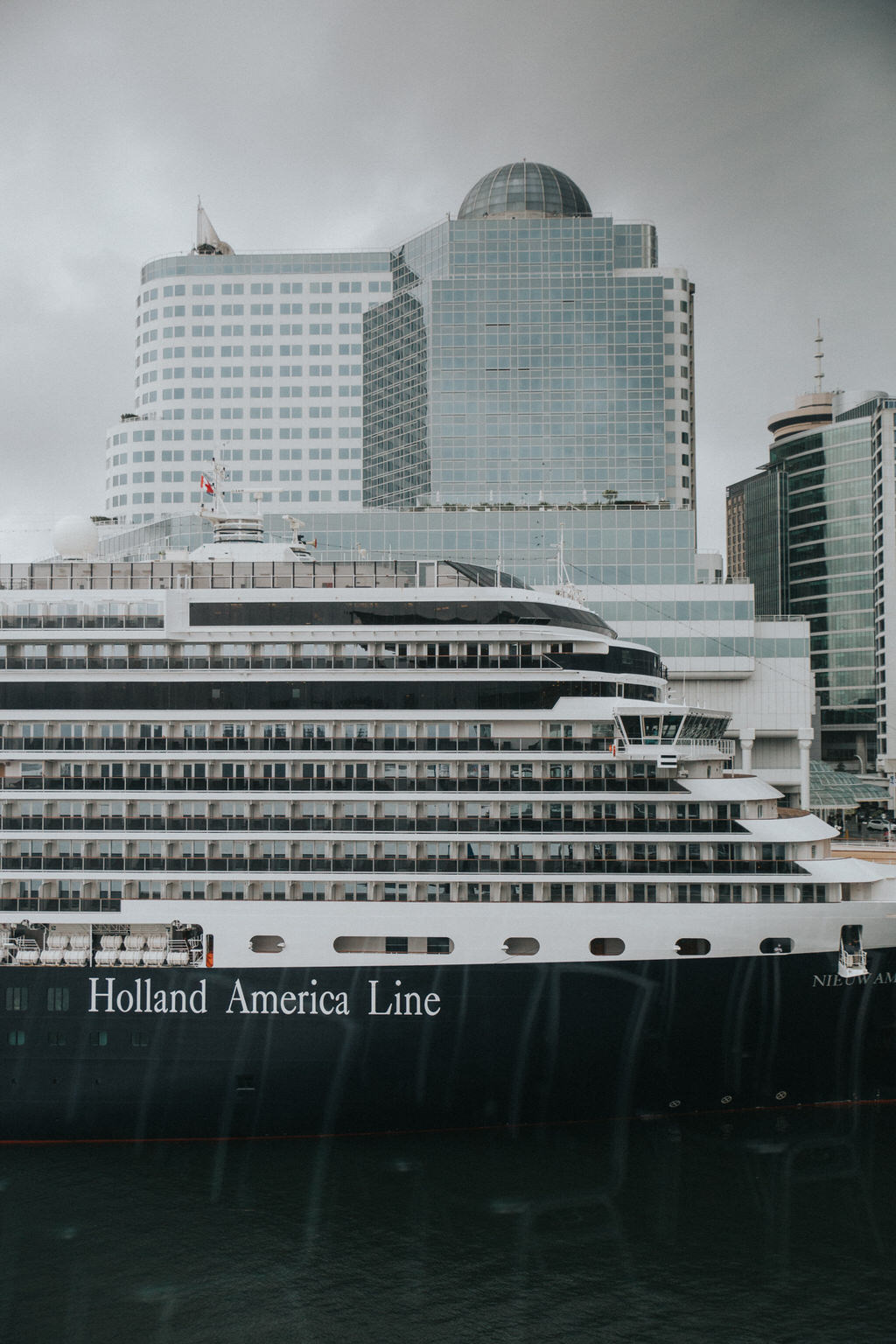 Holland America Cruise Ship from Vancouver Convention Centre