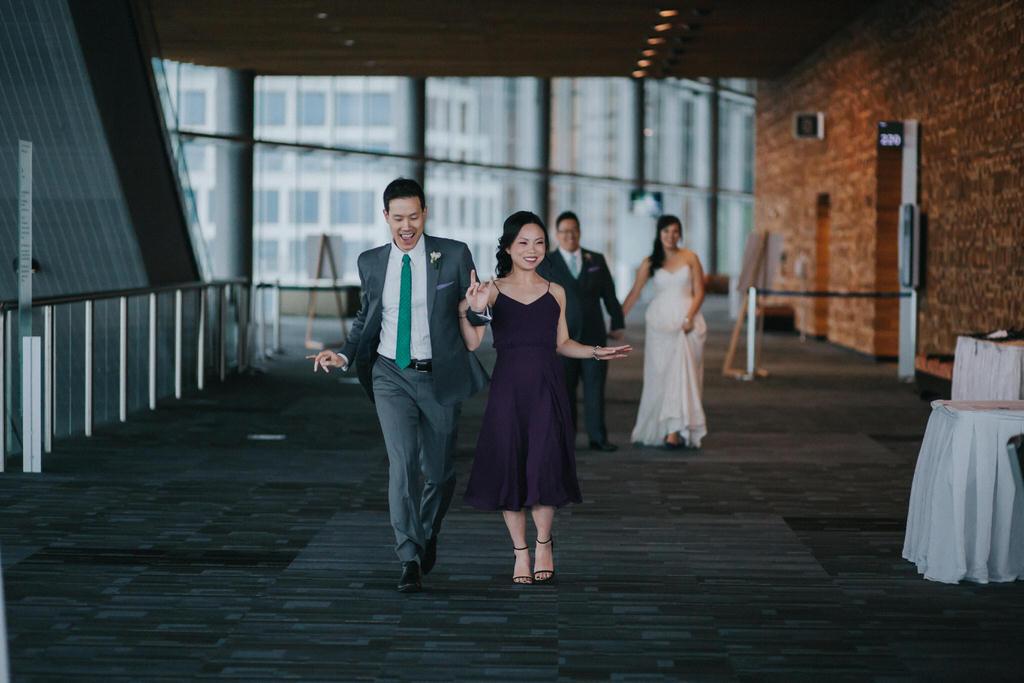 Wedding party entering reception at Vancouver Convention Centre