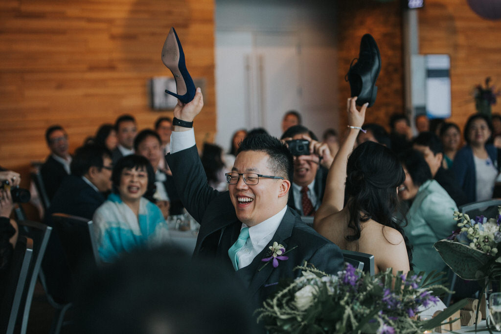 Vancouver Convention Centre Wedding Reception Shoe Game