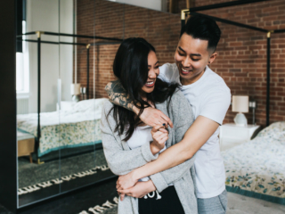 In Home Couples Session Downtown Calgary Loft Sue Moodie Photography