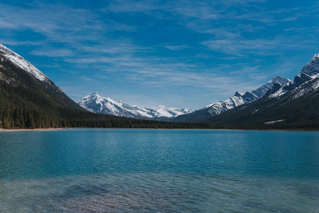 Canmore Alberta Mountain Lake