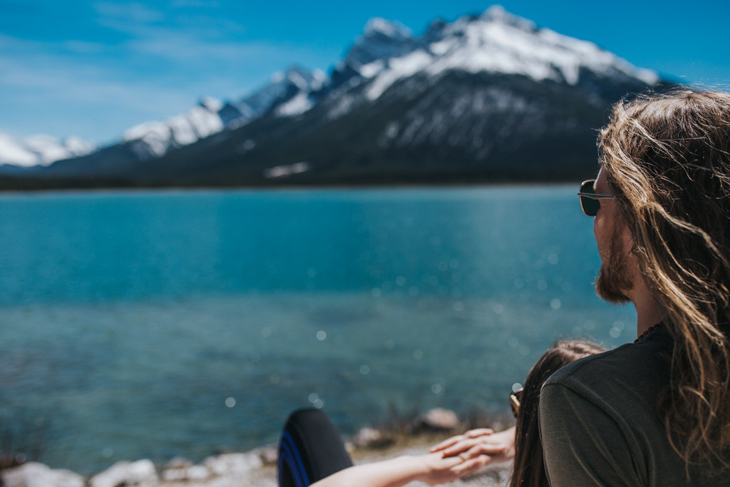 Canmore Mountain Adventure Calgary Engagement Photographer