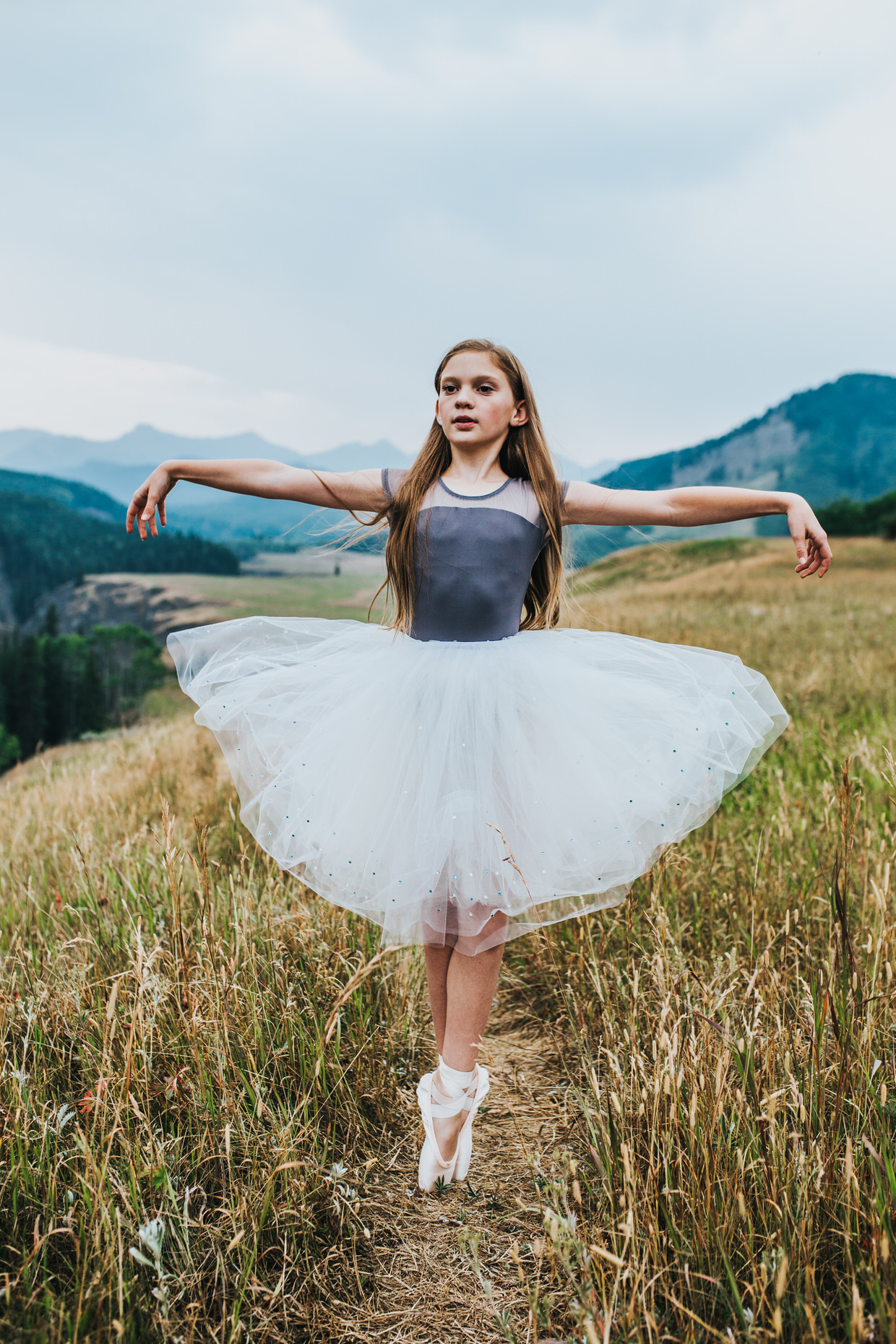Sue Moodie Photography Ballet Portrait In the Mountains