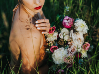 Calgary Portrait Session Black Earth Floral Wedding Bouquet