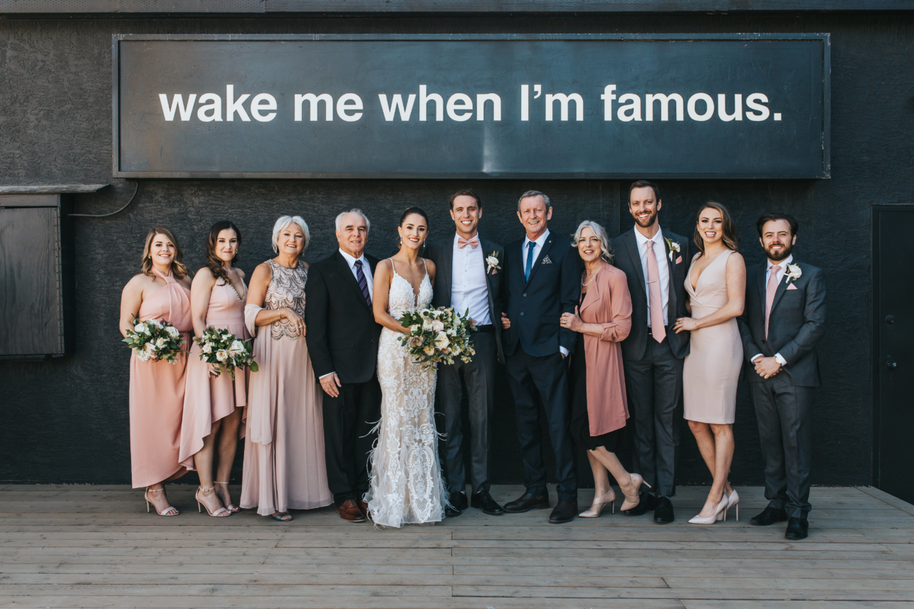 family formals surprise wedding