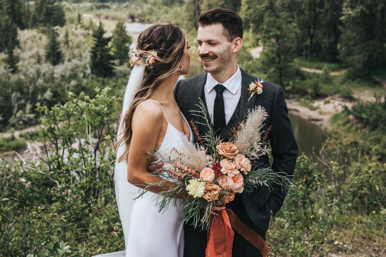 Lake House Calgary Boho Wedding